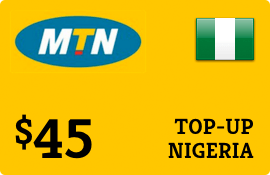 $45.00 MTN Nigeria  Prepaid Wireless Top-Up