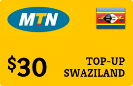 $30.00 MTN Swaziland Prepaid Wireless Top-Up