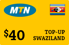 $40.00 MTN Swaziland Prepaid Wireless Top-Up