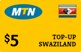 $5.00 MTN Swaziland Prepaid Wireless Top-Up