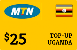 $25.00 MTN Uganda Prepaid Wireless Top-Up
