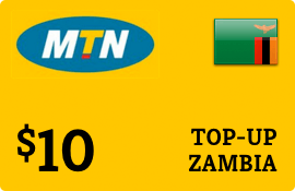 $10.00 MTN Zambia Prepaid Wireless Top-Up