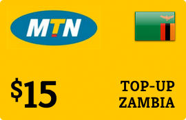 $15.00 MTN Zambia Prepaid Wireless Top-Up