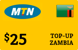 $25.00 MTN Zambia Prepaid Wireless Top-Up