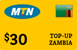 $30.00 MTN Zambia Prepaid Wireless Top-Up