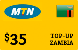 $35.00 MTN Zambia Prepaid Wireless Top-Up