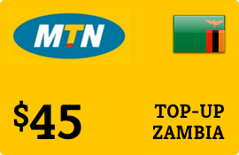 $45.00 MTN Zambia Prepaid Wireless Top-Up