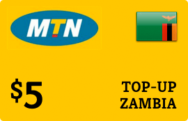 $5.00 MTN Zambia Prepaid Wireless Top-Up