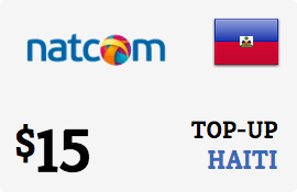 $15.00 Natcom Haiti Prepaid Wireless Top-Up