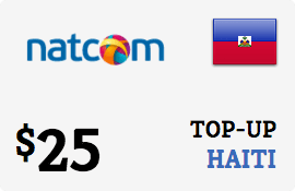 $25.00 Natcom Haiti Prepaid Wireless Top-Up