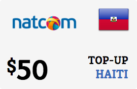 $50.00 Natcom Haiti Prepaid Wireless Top-Up