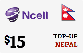 $15.00 Ncell Nepal Prepaid Wireless Top-Up