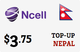 Ncell Nepal Top-up: International mobile refill