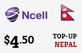 $4.50 Ncell Nepal Prepaid Wireless Top-Up