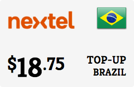 $18.75 Nextel Brazil Prepaid Wireless Top-Up