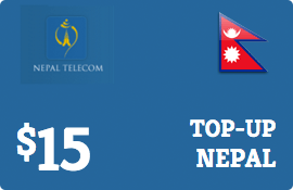 $15.00 Nepal Telecom GSM Nepal  Prepaid Wireless Top-Up