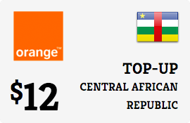 $12.00 Orange Central African Republic  Prepaid Wireless Top-Up