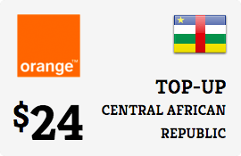 $24.00 Orange Central African Republic  Prepaid Wireless Top-Up