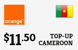 $11.50 Orange Cameroon Prepaid Wireless Top-Up