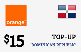 $15.00 Orange Dominican Republic Prepaid Wireless Top-Up