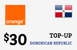 $30.00 Orange Dominican Republic Prepaid Wireless Top-Up