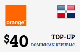 $40.00 Orange Dominican Republic Prepaid Wireless Top-Up