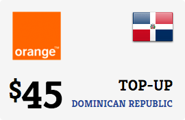 $45.00 Orange Dominican Republic Prepaid Wireless Top-Up