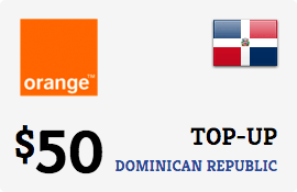 $50.00 Orange Dominican Republic Prepaid Wireless Top-Up