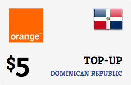 $5.00 Orange Dominican Republic Prepaid Wireless Top-Up