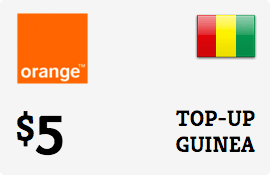 $5.00 Orange Guinea-Conakry Prepaid Wireless Top-Up