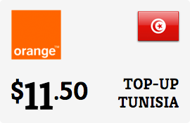 $11.50 Orange Tunisia Prepaid Wireless Top-Up