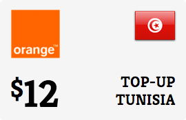$12.00 Orange Tunisia Prepaid Wireless Top-Up
