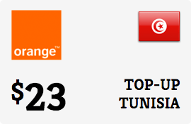 Buy the $23.00 Orange Tunisia Prepaid Wireless Top-Up | On SALE for Only $23.00