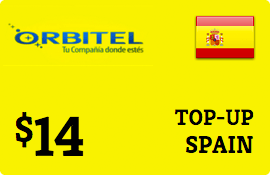$14.00 Orbitel Spain Prepaid Wireless Top-Up