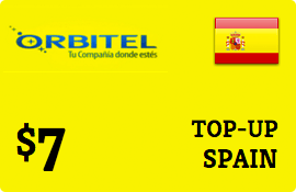 $7.00 Orbitel Spain Prepaid Wireless Top-Up