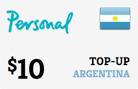$10.00 Personal Argentina Prepaid Wireless Top-Up