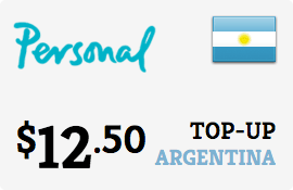 $12.50 Personal Argentina Prepaid Wireless Top-Up