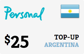 $25.00 Personal Argentina Prepaid Wireless Top-Up