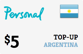 $5.00 Personal Argentina Prepaid Wireless Top-Up