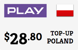 $28.80 Play Poland Prepaid Wireless Top-Up