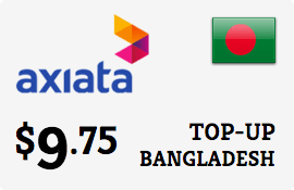 $9.75 Robi Axiata Bangladesh Prepaid Wireless Top-Up