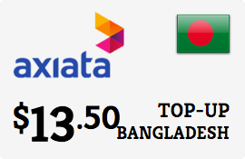$13.50 Robi Axiata Bangladesh Prepaid Wireless Top-Up