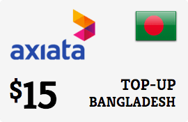 $15.00 Robi Axiata Bangladesh Prepaid Wireless Top-Up