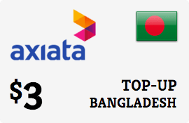 $3.00 Robi Axiata Bangladesh Prepaid Wireless Top-Up