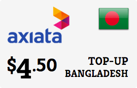 $4.50 Robi Axiata Bangladesh Prepaid Wireless Top-Up