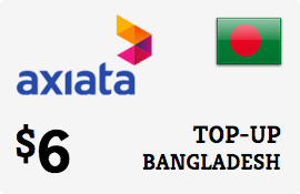 $6.00 Robi Axiata Bangladesh Prepaid Wireless Top-Up