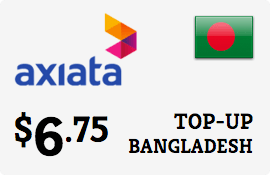 $6.75 Robi Axiata Bangladesh Prepaid Wireless Top-Up