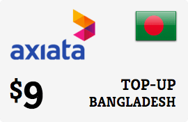 $9.00 Robi Axiata Bangladesh Prepaid Wireless Top-Up