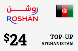 $24.00 Roshan Afghanistan Prepaid Wireless Top-Up