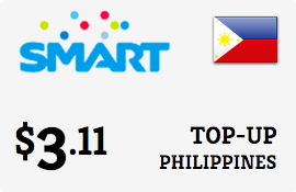 $3.11 Smart Philippines Prepaid Wireless Top-Up